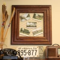 Antique Post Card Display