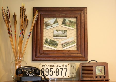 This is a great idea for displaying post cards.