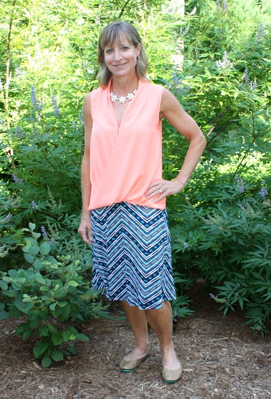 August 2016 Stitch Fix Review - Gilli Melody Printed Flair Skirt - virginiasweetpea.com