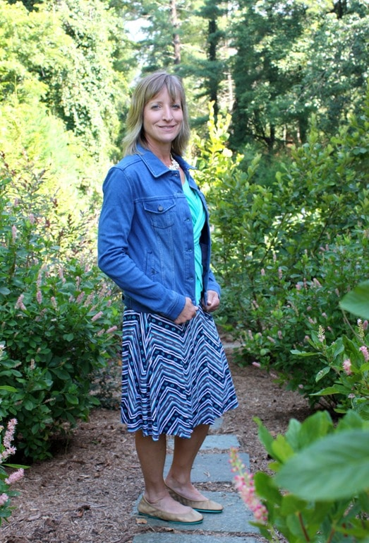 August 2016 Stitch Fix Review - Liverpool Kolten Denim Jacket - virginiasweetpea.com