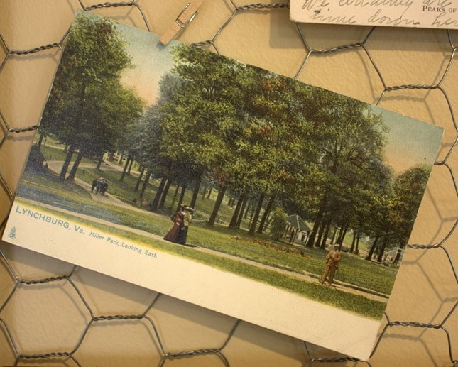 Miller Park Antique Post Card, Lynchburg, VA