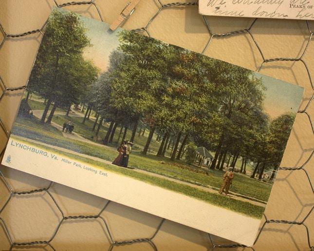 Miller Park Antique Post Card, Lynchburg, VA