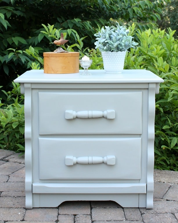 A thrift shop found nightstand looks great after its makeover. virginiasweetpea.com