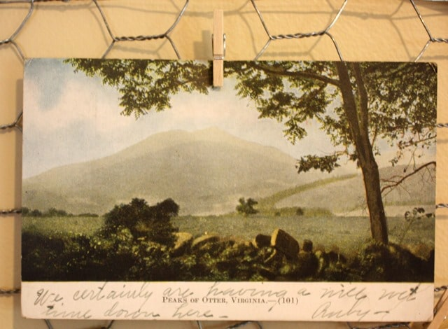 Peaks of Otter Post Card 1909