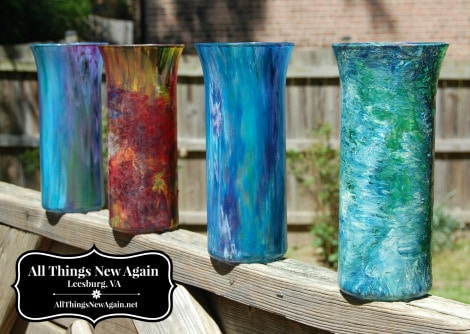 Transform Ordinary $1 Vases with Unicorn Gel Stain