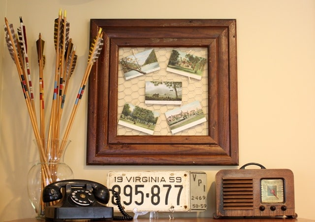 Antique Post Card Display - Display your post cards so that they can be enjoyed. virginiasweetpea.com