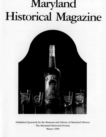 1990 Maryland Historic Magazine
