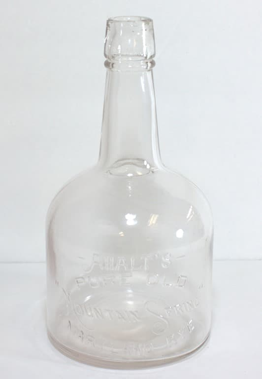 Ahalt Whiskey Bottle - Ahalt's Pure Old Mountain Spring Maryland Rye