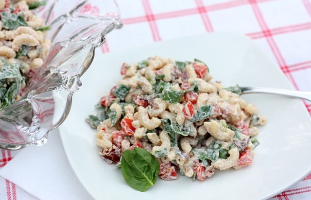 BLT Salad with Spinach - Lettuce is replaced with spinach giving this salad a unique taste. virginiasweetpea.com