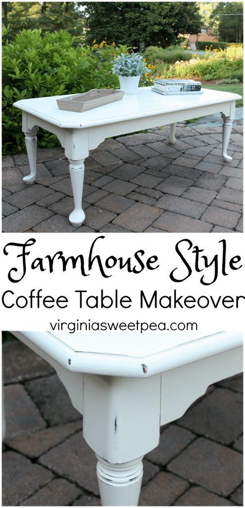 Farmhouse Style Coffee Table Makeover by virginiasweetpea.com