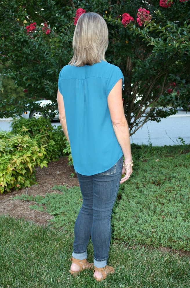 September 2016 Stitch Fix Review - Collective Concepts Basinger Shoulder Pleat Blouse - virginiasweetpea.com