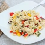 Orzo Salad with Feta, Olives and Peppers