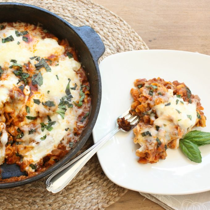 30 Minute Skillet Lasagna is a great dish to prepare on a busy weeknight.