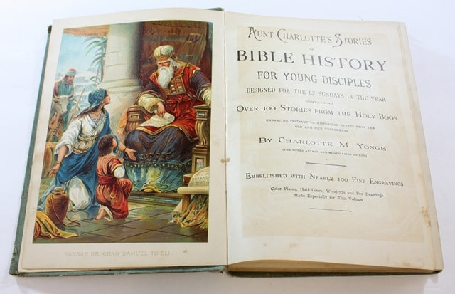 1898 Aunt Charlotte's Stories of Bible History for Little Ones