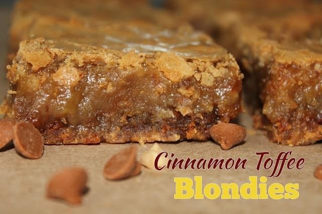 Cinnamon toffee Blondies title