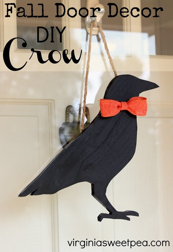 Fall Door Decor - DIY Crow - virginiasweetpea.com