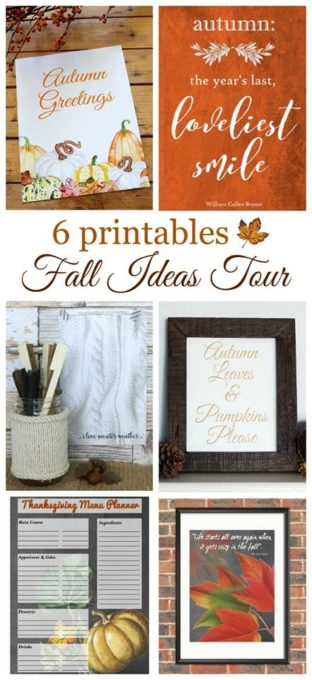 Fall Ideas Tour - 5 Fall Printables