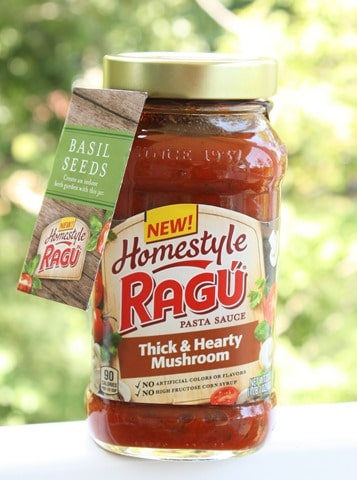 Ragu Homestyle Thick and Hearty Mushroom Pasta Sauce