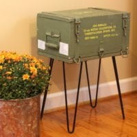 Ammunition Crate Table