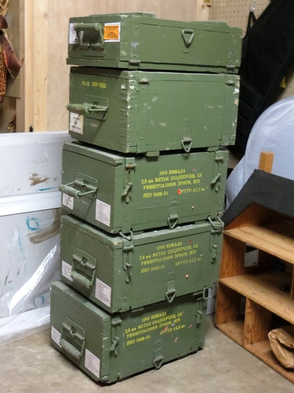 ammunition crates