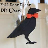 Fall Door Decor – DIY Crow