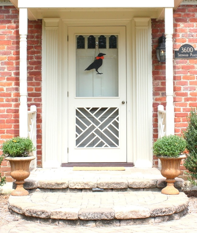 Fall Porch with DIY Crow