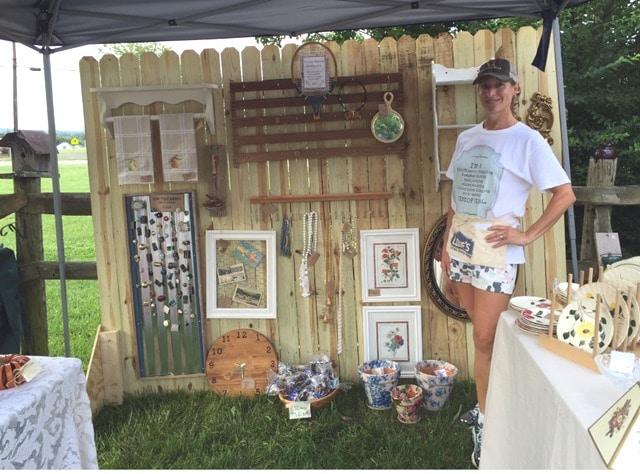 DIY Folding Display for Craft Shows or Vintage Markets