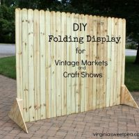 DIY Folding Display for Vintage Markets and Craft Shows