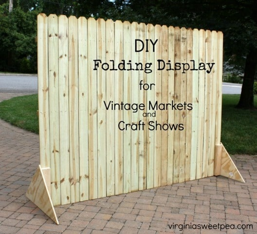 DIY Folding Display for Vintage Markets and Craft Shows by virginiasweetpea.com - feature