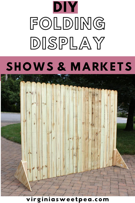 DIY Folding Display - Learn how to make a display that folds to use for craft shows or vintage markets. #foldingdisplay #DIYdisplaywall #craftshowdisplay via @spaula