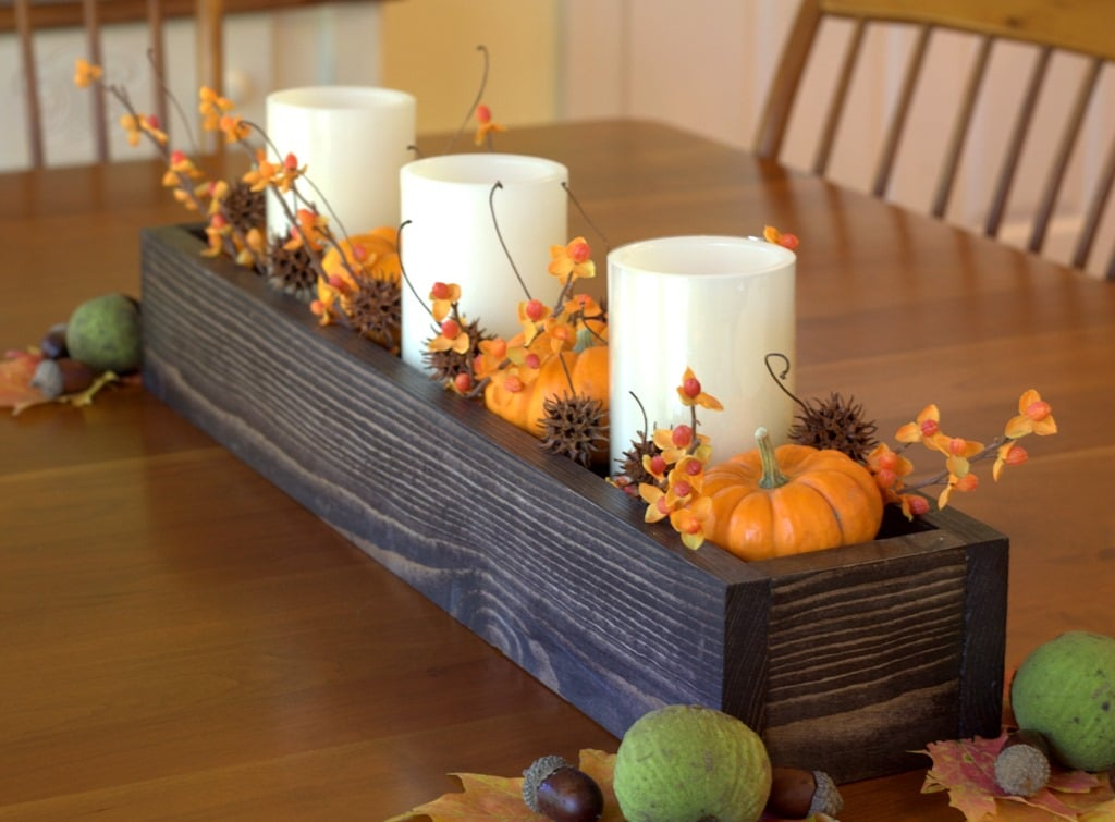 How to make a diy wood box centerpiece for less than