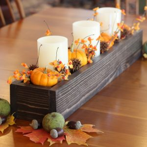 DIY Wood Box Centerpiece