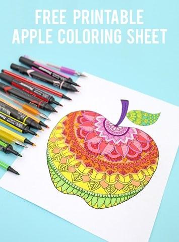 Free-printable-apple-coloring-sheet
