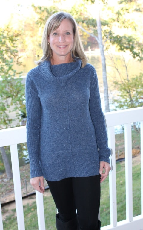 November 2016 Stitch Fix Review - RD Style Woods Cowl Neck Pullover - virginiasweetpea.com