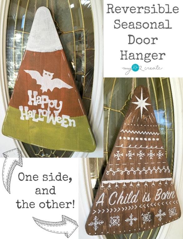 Reversible Seasonal Door Hanger, MyLove2Create