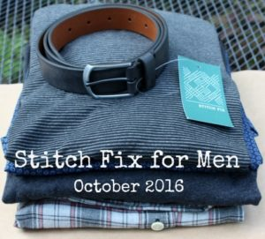 Stitch Fix for Men - October 2016