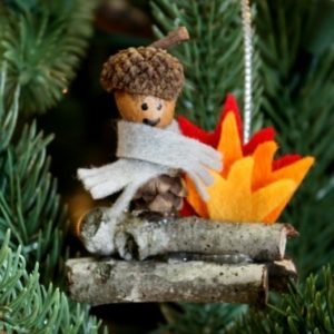 Woodland Elf Christmas Ornament by virginiasweetpea