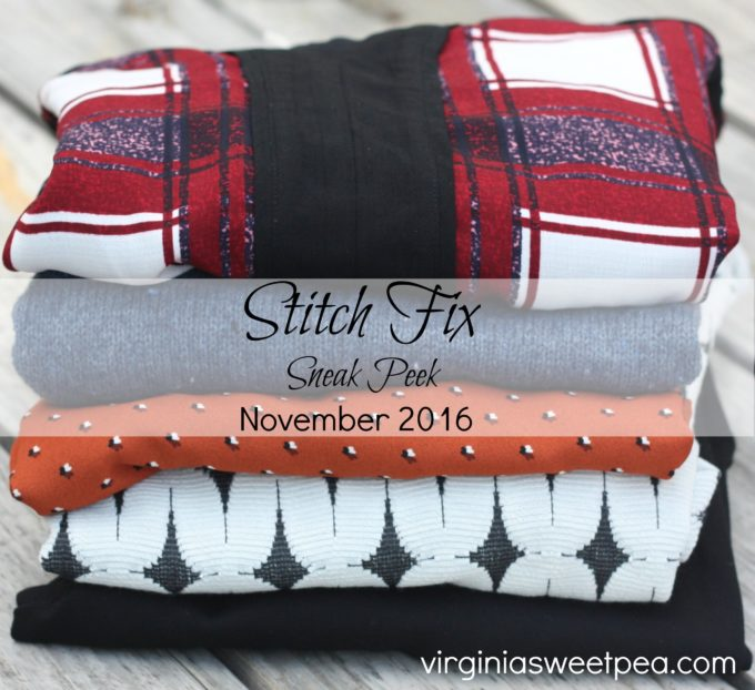 Stitch Fix - November 2016 - Sneak Peak