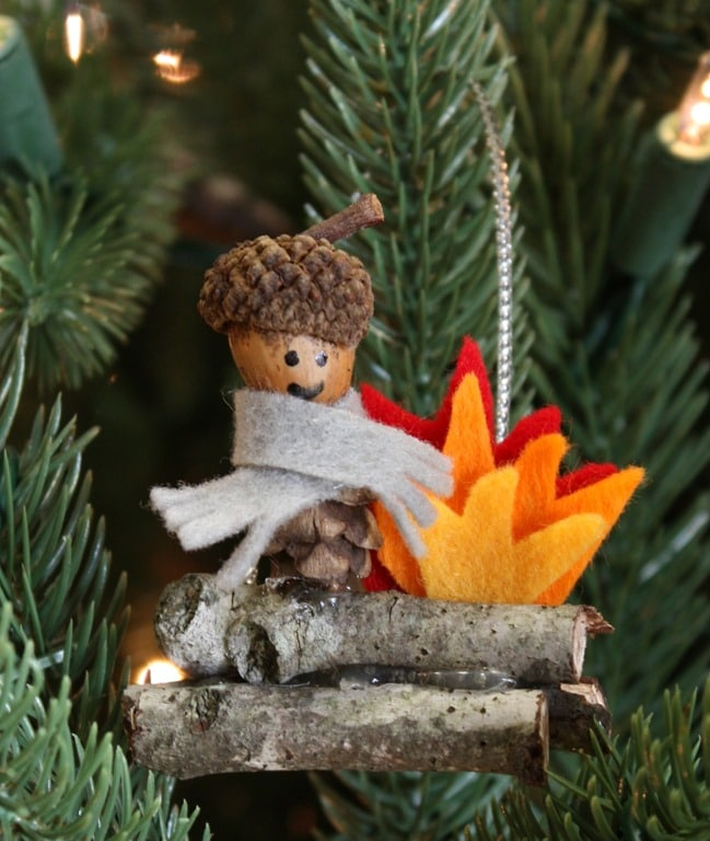 Woodland Elf Christmas Ornament - Get the full tutorial to make your own at virginiasweetpea.com.