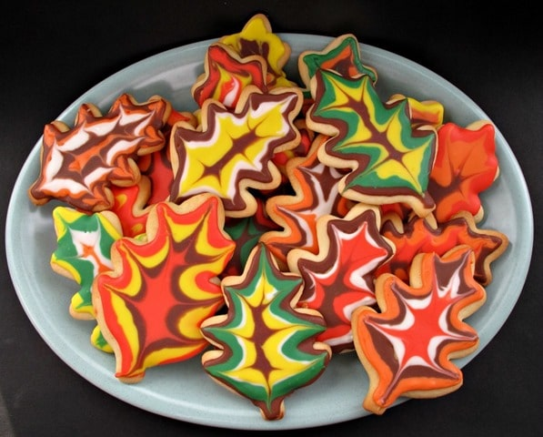 Decoratated Thanksgiving Sugar Cookies