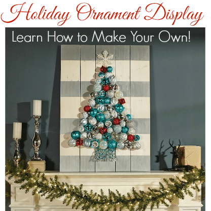 Learn how to make a Holiday Ornament Display at Home Depot!
