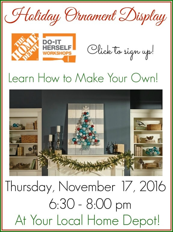 Holiday ornament display home depot free workshop sweet pea How to make your own ornament