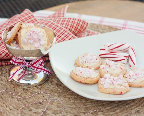 Peppermint Cookies with White Chocolate - This cookie is the perfect addition to your Christmas cookie tray! Get the recipe at virginiasweetpea.com.