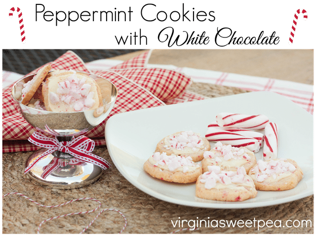 Peppermint Cookies with White Chocolate