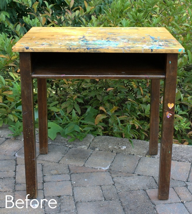 Vintage School Desk Before Makeover