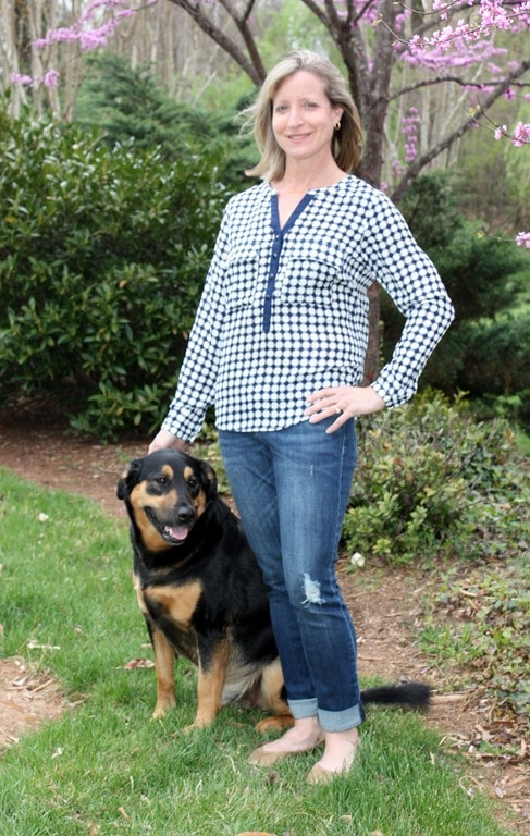 April 2016 Stitch Fix - 41Hawthorne Quay Henley Blouse - virginiasweetpea.com