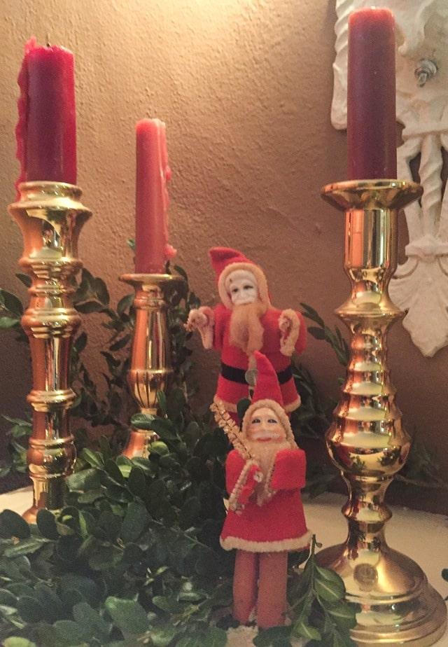 Christmas Home Tour in Waynesboro, VA - Antique Santa Collection