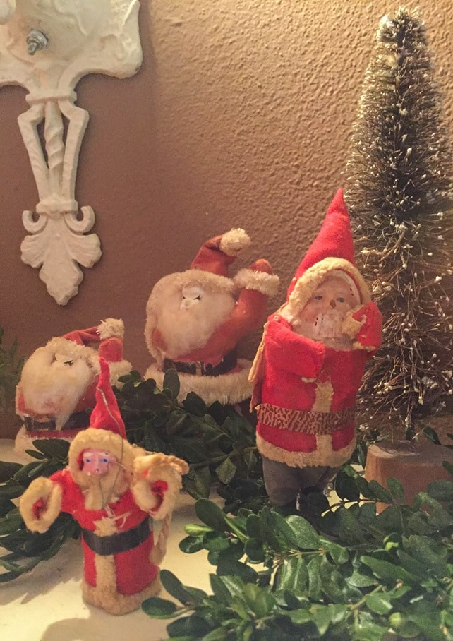 Christmas Home Tour in Waynesboro, VA - Antique Santa Collection