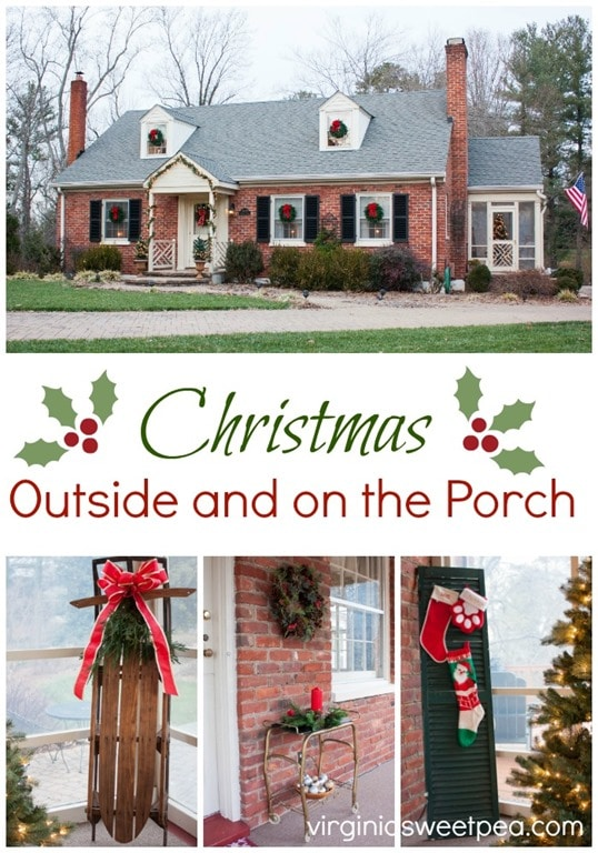Christmas Outside and on the Porch