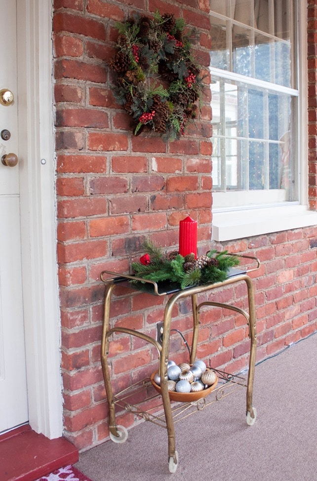 Christmas Outside and on the Porch - Traditional Southern Christmas Decor - virginiasweetpea.com
